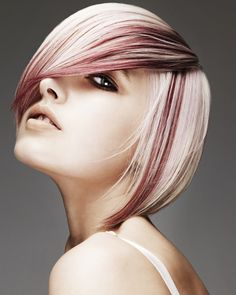 Scott would love me to be blonde. I love the hints of red and the hair cut....