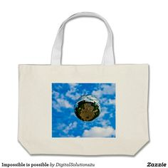 Impossible is possible large tote bag