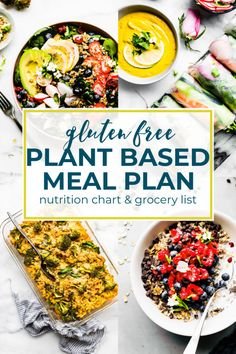 Plant Based Foods Meal Plan and Grocery Shopping List . - Plant Based Foods Meal Plan and Grocery Shopping List … - Plant Based Diet Meals, Plant Based Meal Planning, Plant Based Eating, Plant Based Recipes, Vegetarian Meal Planning, Plant Based Foods, Vegetarian Food, Whole Foods, Whole Food Recipes