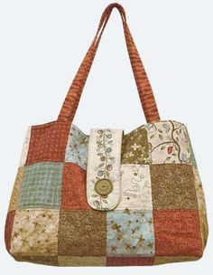 Buttons and Blooms Bag Free Handbag Pattern by June Pease