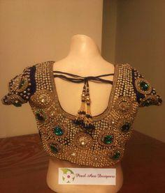 Heavy full stone work bridal blouse