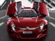 red, Concept, Car ,Citroen ,C, Metisse  2012