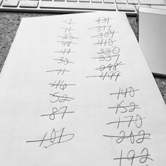 110/365 Checklist. We all have our ways to organize whole editing.  I like to check things off. These are the file numbers from a client's gallery of their favorite images from their session. As I make my final fine-tooth comb edits I cross off each one.  It's messy and usually done on the back of my son's class work that was sent home earlier that day or a paid bill or invoice but hey it works. Nothing makes me more happy than to cross it all off and know I've completed my job.  #checklist…