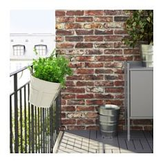 IKEA - SOCKER, Flower box with holder, You can hang the flower box and plant pot from a balcony rail and create a decorative garden, even on a small space.
