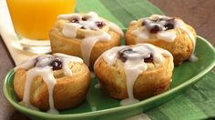 Crescent dough is dressed up with a creamy cherry filling and topped with a light glaze in these breakfast treats.