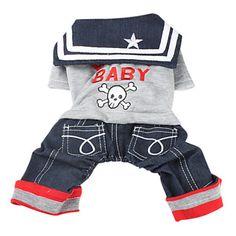 Rocha Marinheiro camisa do estilo com calças para cães (XS-XL) – BRL R$ 44,31