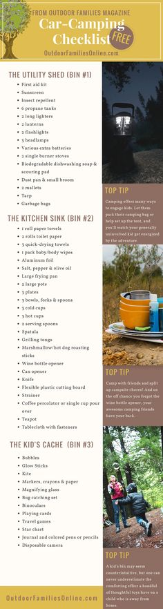Don't ever forget anything again. Print Outdoor Families Magazine's free car camping checklist. Let us help you get your camping bins organized so you can get outside with the family more! Ikea Camping, Camping Hacks, Retro Camping, Camping Storage, Camping Packing, Camping List, Camping Organization, Camping Checklist, Camping Car