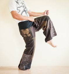 Low Crotch Unique Patchwork Fisherman Pants by AmazingThaiStore, $25.00