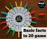 'What's Missing?' - Addition/subtraction to 20, basic facts game