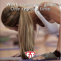 Work toward your #goals. One rep at a time! #FitmarkFriday @fitmarkbags #Inspiration