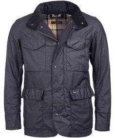 The men's Barbour Tailored Sapper Wax Jacket is part of the Barbour Great Coat Collection. The Sapper jacket is great for the worst weather, it features a high quality two way Barbour front zip, complete with a studded front storm flap which will keep you protected from the elements. The stowaway hood is perfect for those sudden downpours, easily accessible and stowed away for any weather. The Sapper Wax jacket also features a draw cord at the waistline to give a more fitted look as well as…