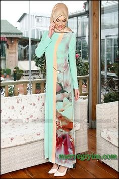 En Güzel Tesettür Elbiseler 2014