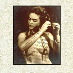 Your place to buy and sell all things handmade Frida Kahlo Photomontage Nature Quote Nude Topless Art Print Original Signed Mixed Media Collage Surreal Surrealist Sepia Black Cream Diego Rivera, Photomontage, Frida Kahlo Portraits, Kahlo Paintings, Frida And Diego, Frida Art, Poster Prints, Art Prints, Wow Art