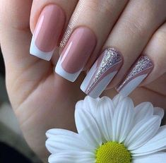 There must be your favorite nail ideas in 140 classic nail designs. - Page 87 of 139 - Inspiration Diary Cute Nails, Pretty Nails, My Nails, Acrylic Nail Designs, Nail Art Designs, Nail Manicure, Nail Polish, Classic Nails, Bridal Nails