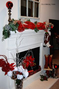 Its A Cowgirl Thing: my FIRST Christmas tree & mantle decor