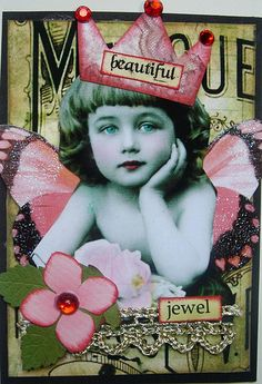"** ""Beautiful Jewel"" ATC Artist Trading Card @butterflie1"