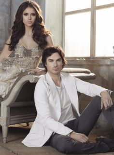 Image via We Heart It #iansomerhalder #NinaDobrev #photoshoot #thevampirediaries #elenagilbert #damonsalvatore #delena #tvd