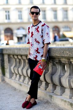 Red accents. Paris