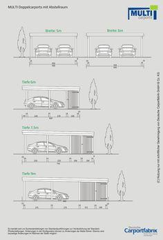 Technische Ansichten MULTI Flachdach Doppelcarport mit Schuppen - #Ansichten #Doppelcarport #exterior #Flachdach #mit #MULTI #Schuppen #Technische