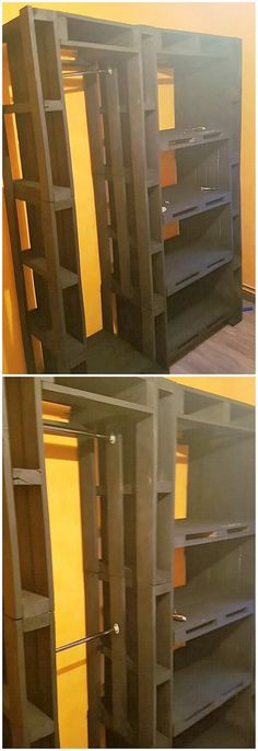 This is one such interesting and unique wood pallet project that is being carried out with the cabinet use. This cabinet wood pallet amazing project is so wonderful and much simple in form of artwork designs. It do add up the wood pallet shelving creations being divided straight into it.