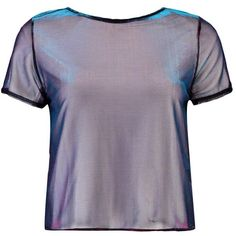 Boohoo Lizzie Split Back Metallic T-Shirt (51 BRL) ❤ liked on Polyvore featuring tops, t-shirts, shirts, blusas, metallic t shirt, metallic shirt, crop t shirt, off shoulder t shirt and crop top