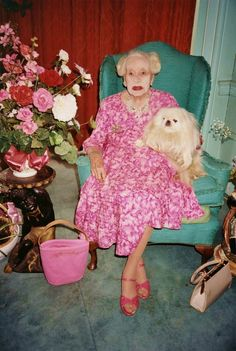 yikes!  At first I thought this was a postmortem picture.  But no...just a scary granny.