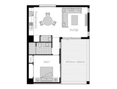 Granny Flat Designs and Studio Suites Small House Plans, House Floor Plans, Granny Flat Plans, Mcdonald Jones Homes, Garage Apartment Plans, House Blueprints, Living Styles, Small House Design, Clever Design