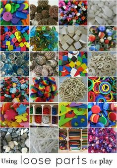 Loose parts for play