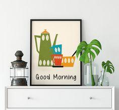 Kitchen Print Quote Print Wall Art Kitchen Poster Art Kitchen Posters, Kitchen Prints, Kitchen Wall Art, Quote Prints, Wall Art Prints, London Poster, Colorful Wall Art, Mid Century Art, Large Prints