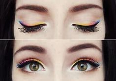 Rainbow eye liner