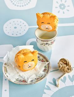 Kitty Cat Carrot Macarons