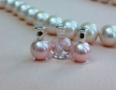 Dollhouse Miniatures Perfume Bottles Pink by worldinminiatureuk, £2.99