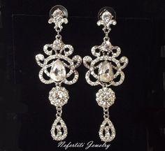 chandelier wedding earrings Vintage by nefertitijewelry2009