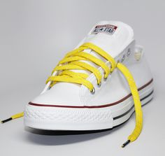 ae0d827fe91f Yellow Reflective Shoelaces by Laced Up Laces Neon Green