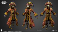 ArtStation - Captain Briggsy - Sea of Thieves, Ivan Yosifov Character Sketches, Character Art, Sea Of Thieves, Ghost Ship, Dungeons And Dragons Homebrew, Pirates Of The Caribbean, Deep Sea, Character Design Inspiration, Art Studios