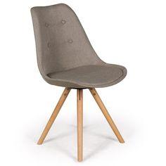 lot de 4 chaises scandinaves gao tissu gris | 'salem's lot