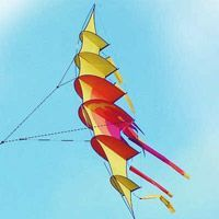 Bow-Kite by Rainer Hoffmann, a plan for 1 line kite hosted at the boxes category of the KPB Kite Surf, Go Fly A Kite, Kite Building, Box Kite, Kite Making, Paper Plane, Fun Projects, Balloons, Arts And Crafts