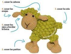 Tutorial: oveja amigurumi (crochet sheep) oh my gosh! Non-English site… – Amigurumi Free Pattern İdeas. Crochet Amigurumi, Crochet Bear, Amigurumi Patterns, Crochet Animals, Crochet Dolls, Crochet Sheep Free Pattern, Crochet Patterns, Easter Crochet, Crochet For Kids
