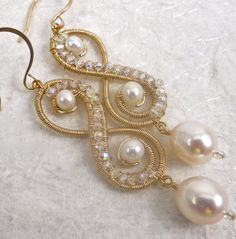 Pearlmania Two pairReserved for Silvia ♥ by twotightlywound on Etsy