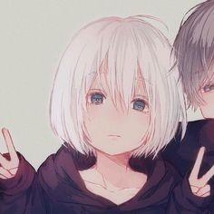 aaaa vey q nenemzinha fofaa >< Anime Couples Drawings, Couple Drawings, Anime Love Couple, Cute Anime Couples, Kawaii Anime Girl, Anime Art Girl, Photo Couple Amoureux, Cute Couple Wallpaper, Matching Profile Pictures