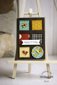 cute! want a punch that makes these little postage stamp style squares.... Anyone know where I can get one?
