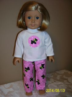 Flannel pajama pants and top with applique of dog (McCalls 5733) 2014   SOLD