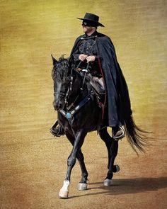 Zorro and his best buddy, Tornado!