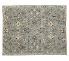 Anna Persian-Style Rug, 10 x 14', Porcelain Blue