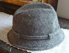 VINTAGE HARRIS TWEED Fedora Irish Tweed 100% Pure Wool Tweed Handwoven in  the Outer Hibrides 68610fa649de