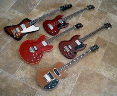Gibson basses #EB-0 #EB-2 #EB-3 #Thunderbird #LesPaul