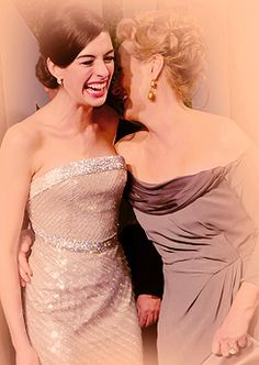 With Anne Hathaway at the Academy Awards-Vanity Fair Party, 2009