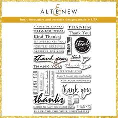 Altenew Clear Stamp Set - Many Thanks
