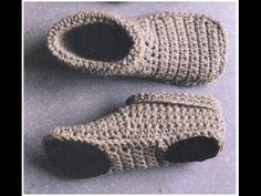 СЛЕДКИ-ТАПОЧКИ крючком   PODOTHECA-SLIPPERS crochet.   часть 3.