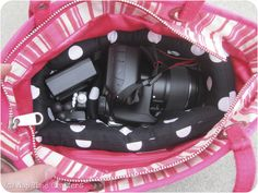 Nap Time Crafters: Purse Camera Bag Tutorial-to make an insert for your purse